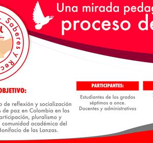 EL PRÓXIMO  22 DE JULIO SE DESARROLLARÁ EN EL SAN BONIFACIO EL FORO : UNA MIRADA PEDAGÓGICA AL PROCESO DE PAZ.