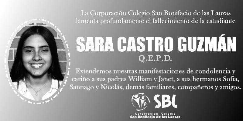 Sara Castro Guzmán - Pésame3